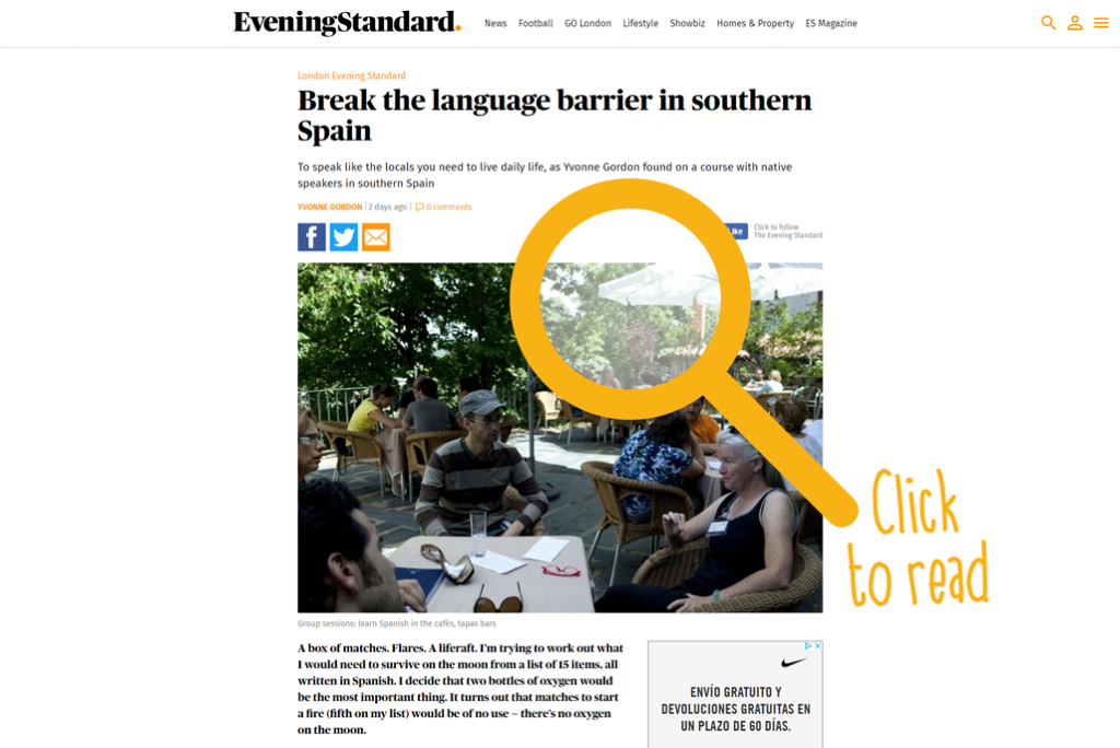 Evening Standard about PuebloEspañol